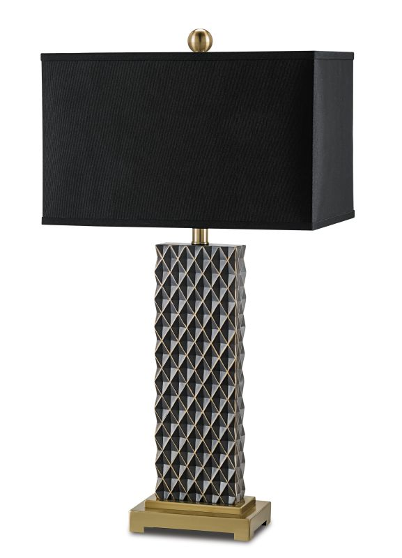 "Currey and Company 6630 Venturi 31"" High Table Lamp Black / Coffee"