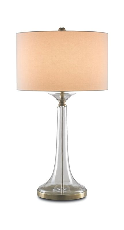 """Currey and Company 6635 Grandview 1 Light 33"""" High Table Lamp Clear"""