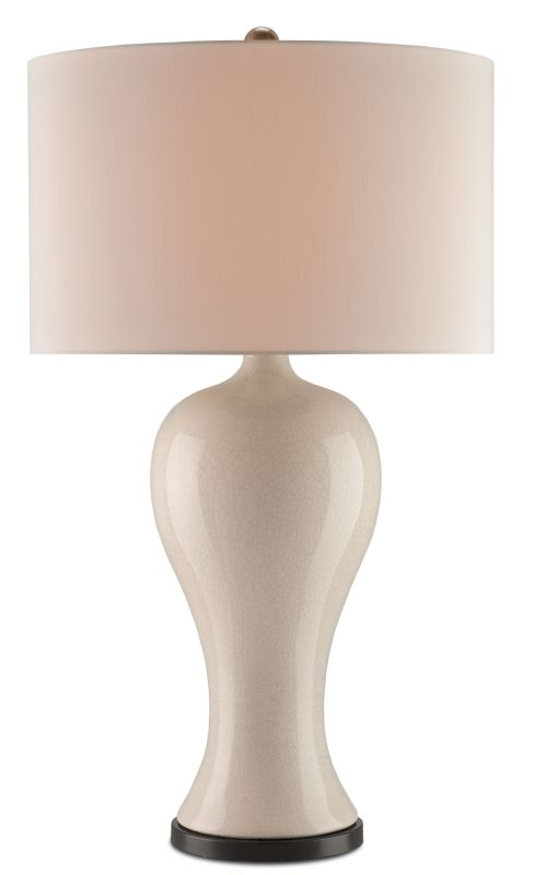 Currey and Company 6637 Doyenne 1 Light Table Lamp with Off-White