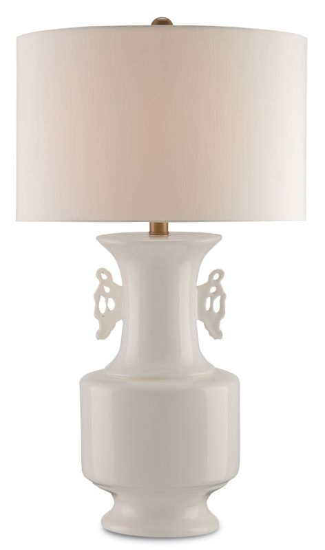 Currey and Company 6693 Blanc de Chine 1 Light Table Lamp with