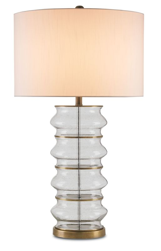 "Currey and Company 6759 Glaisdale 1 Light 34"" High Table Lamp Seeded"