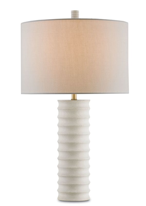 "Currey and Company 6761 Snowdrop 23"" High Table Lamp Natural Lamps"