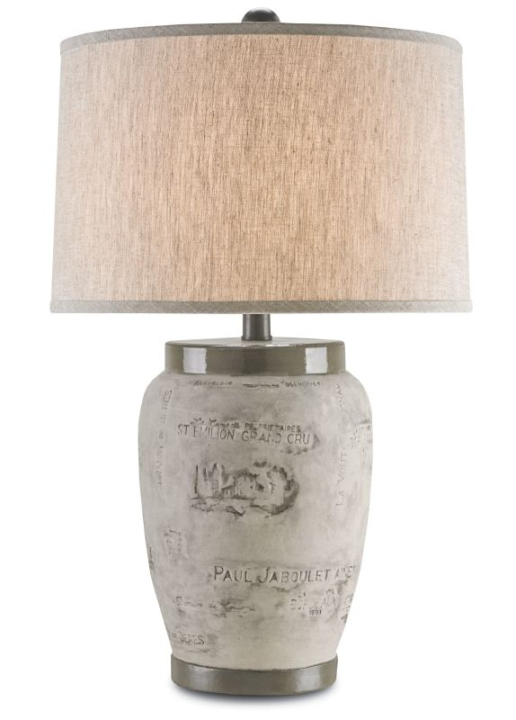 "Currey and Company 6778 Madura 31"" High Table Lamp Charcoal Brown"