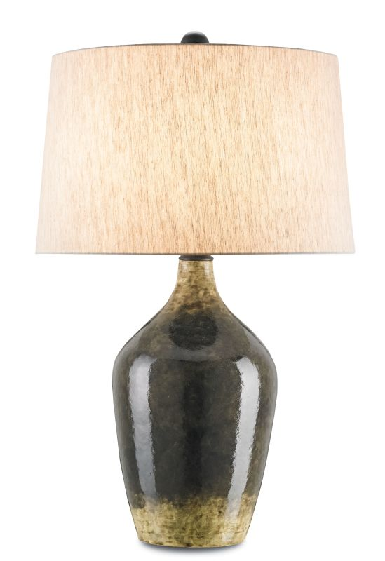 "Currey and Company 6779 Moray 33"" High Table Lamp Mushroom Brown Lamps"