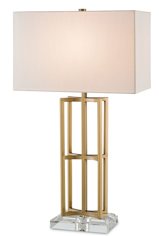"Currey and Company 6801 Devonside 29"" High Table Lamp Coffee Brass /"