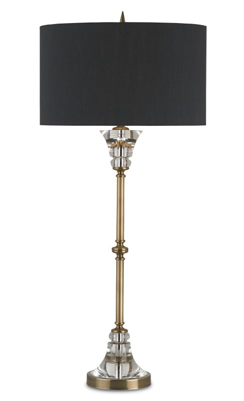 Currey and Company 6818 Encore 1 Light Buffet Table Lamp Coffee Brass