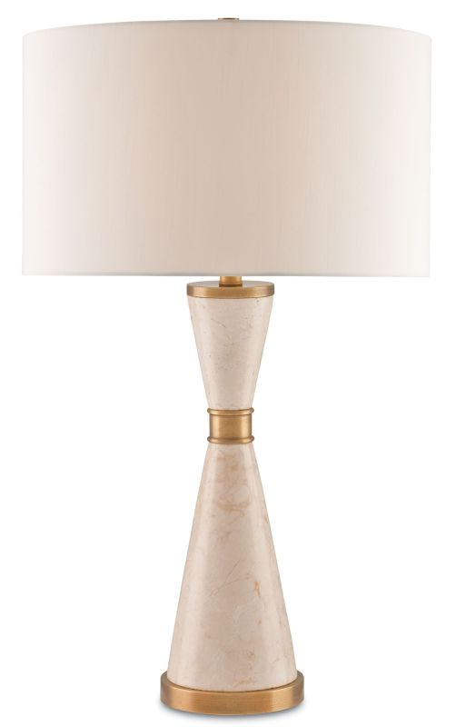Currey and Company 6886 Lycee 1 Light Table Lamp with Off-White