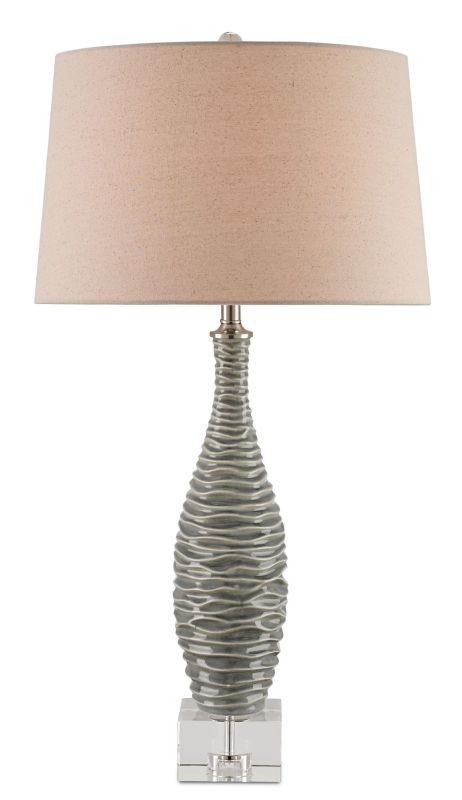 Currey and Company 6929 Trieste 1 Light Table Lamp with Flax Linen