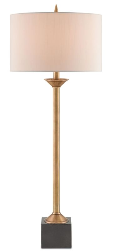 Currey and Company 6963 Briarwood 1 Light Table Lamp with Off-White