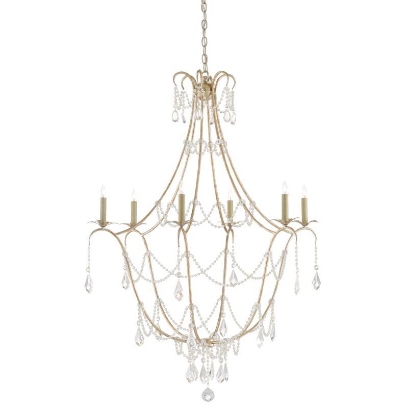 "Currey and Company 9000-0067 Elizabeth 6 Light 36"" Wide Single Tier Sale $2440.00 ITEM#: 2996961 MODEL# :9000-0067 :"