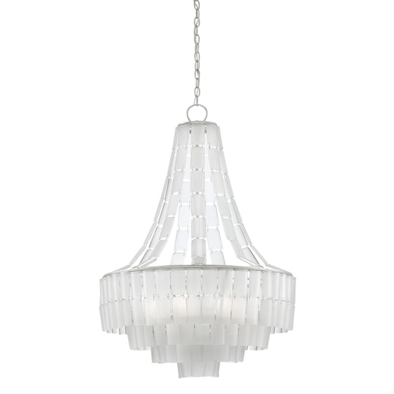 "Currey and Company 9000-0159 Vintner Blanc 7 Light 27"" Wide Single Sale $2440.00 ITEM#: 2997046 MODEL# :9000-0159 :"