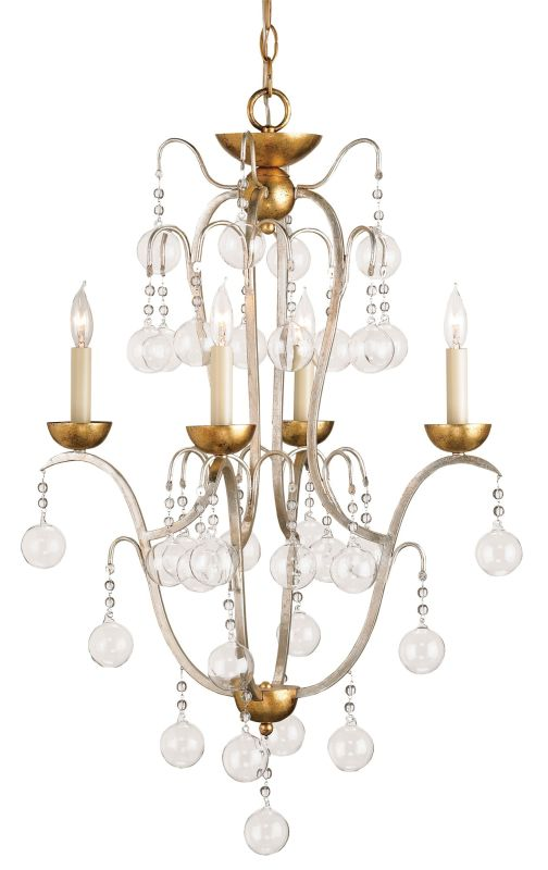 "Currey and Company 9027 Allusion 32""H 4 Light Mini Chandelier with"