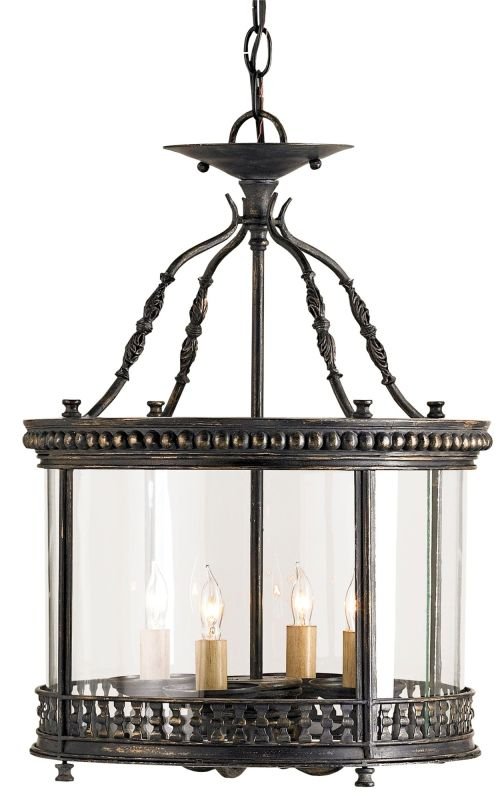 Currey and Company 9045 Grayson 4 Light Ceiling Lantern with Antique