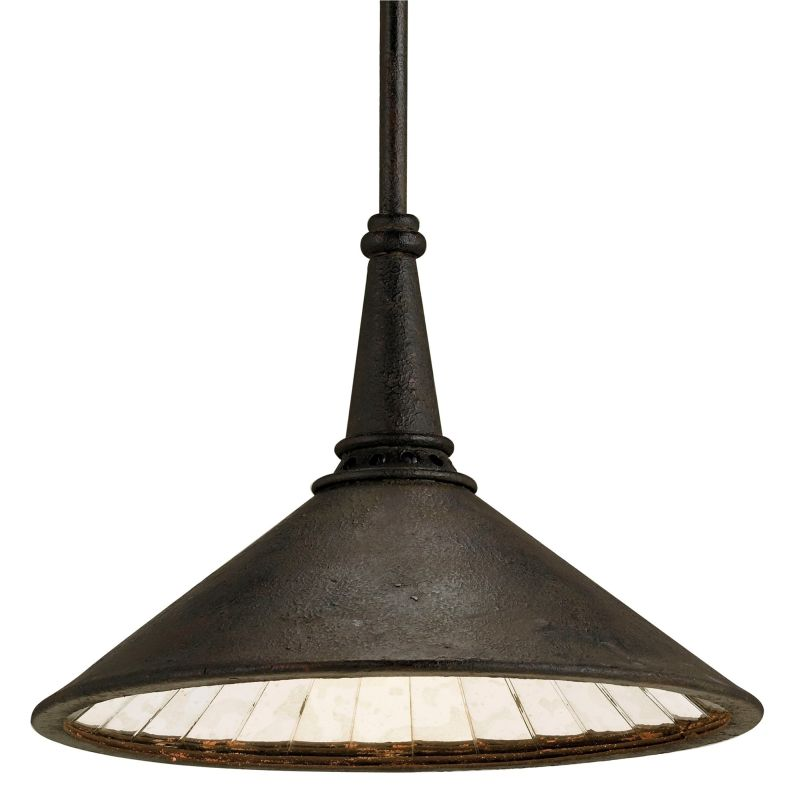 "Currey and Company 9056 Manuscript 36""H 1 Light Pendant Smoke Black /"