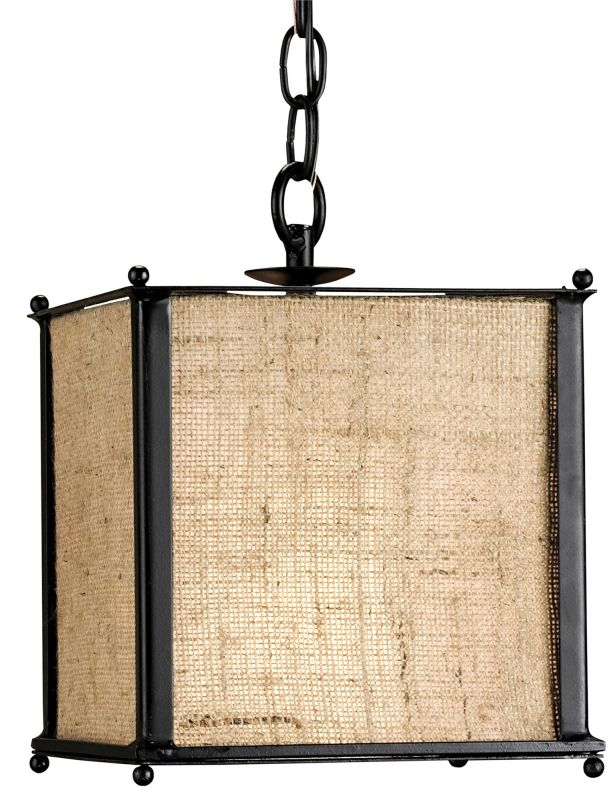 Currey and Company 9153 Wiggins Petit 1 Light Pendant in Black /