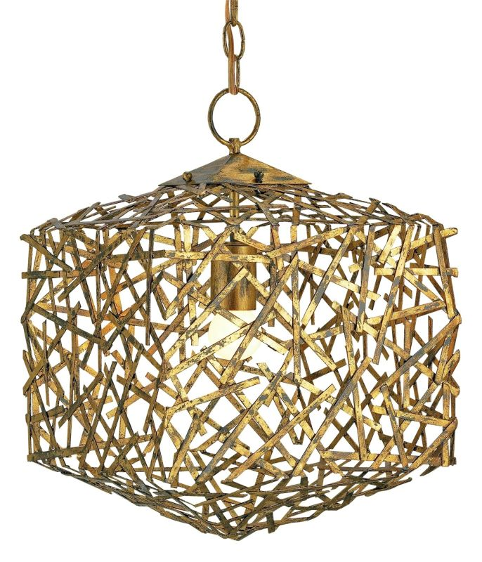 "Currey and Company 9168 Confetti 17""H 1 Light Cube Pendant Hand Rubbed"