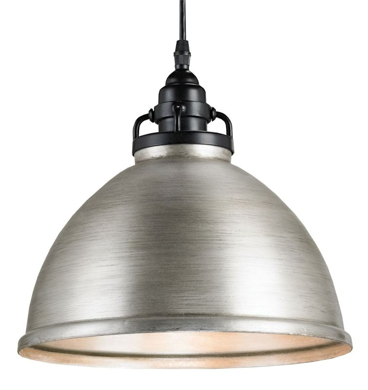 Currey and Company 9207 Ruhl 1 Light Pendant Satin Black / Antique