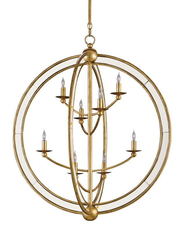 "Currey and Company 9235 Aphrodite 8 Light 30"" Wide Chandelier Gold"
