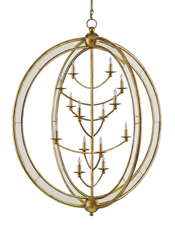 "Currey and Company 9236 Aphrodite 14 Light 43"" Wide Chandelier Gold"
