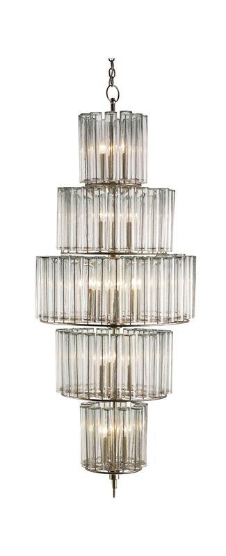 Currey and Company 9311 Bevilacqua 18 Light 5 Tier Chandelier Silver Sale $5740.00 ITEM#: 2238567 MODEL# :9311 :
