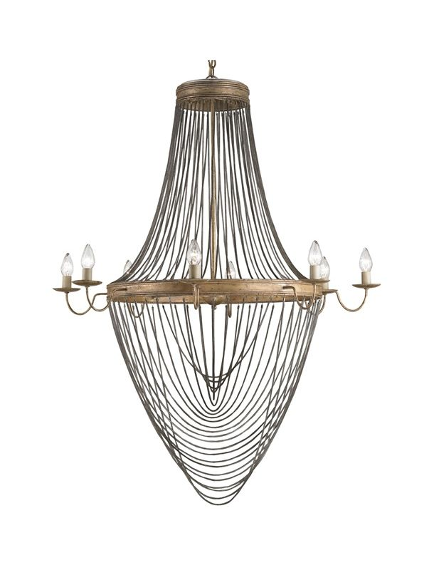 "Currey and Company 9412 Lucien 8 Light 59"" High 1 Tier Chandelier"