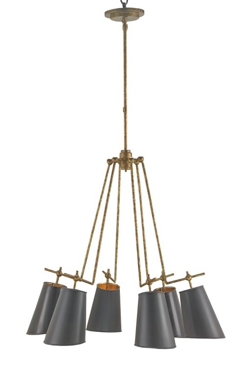 Currey and Company 9503 Jean-Louis 6 Light Chandelier Old Brass Indoor Sale $1470.00 ITEM#: 2493465 MODEL# :9503 :
