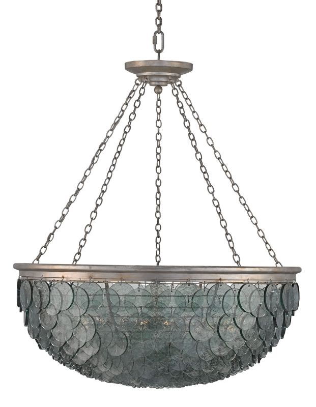 Currey and Company 9511 Quorum 20 Light 1 Tier Chandelier Silver Leaf