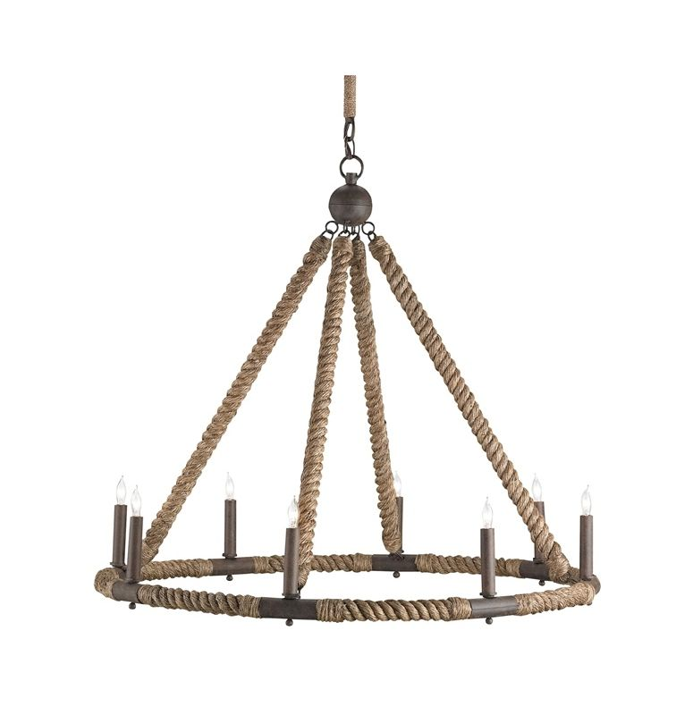 """Currey and Company 9536 Bowline 8 Light 29"""" High 1 Tier Chandelier"""