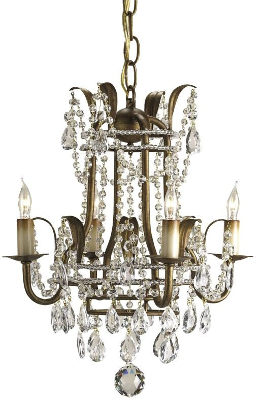 Currey and Company 9543 Laureate Chandelier Small Rhine Gold Indoor