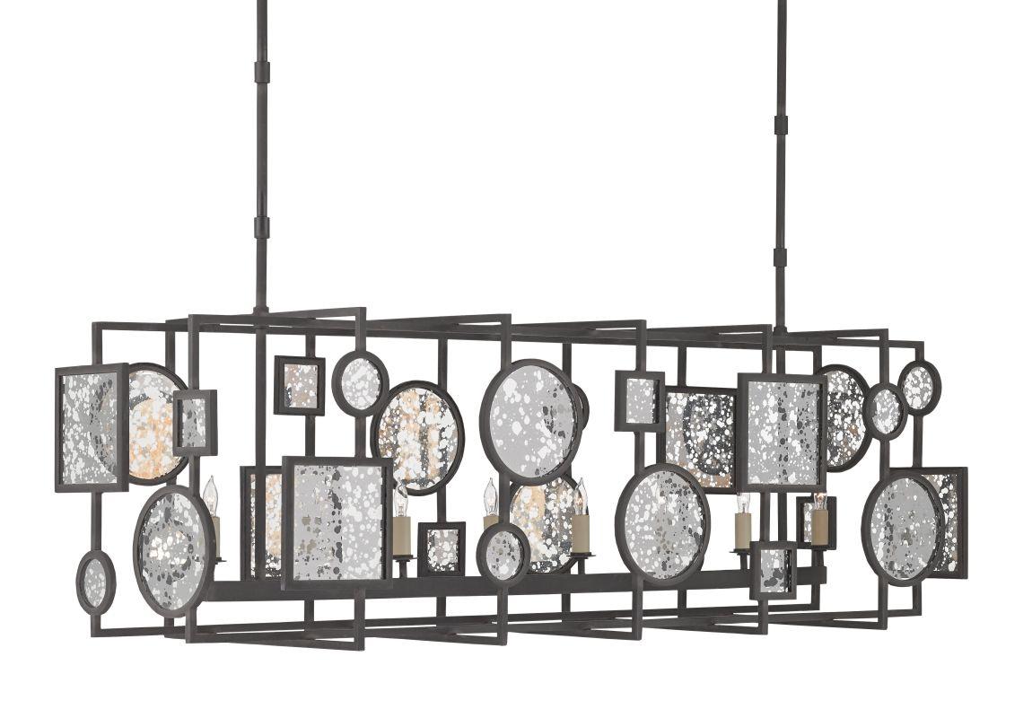 Currey and Company 9640 Gallerist 8 Light 1 Tier Chandelier Blacksmith