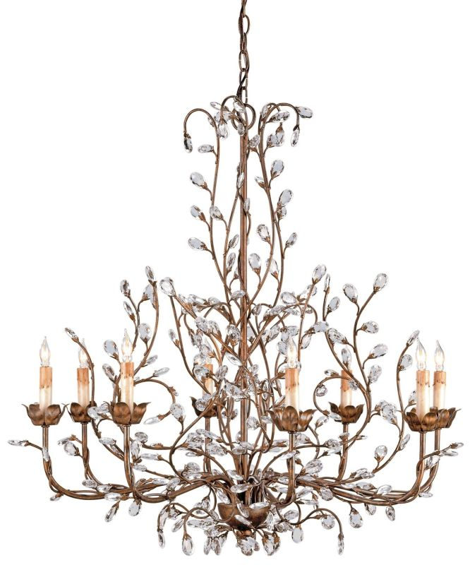 Currey and Company 9884 Crystal Bud Chandelier Large with