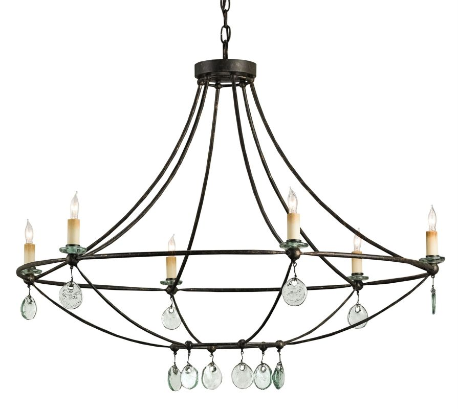 Currey and Company 9921 Novella 6 Light Chandelier Mayfair Indoor