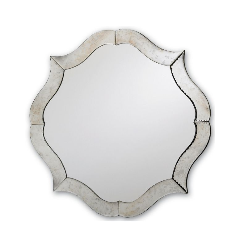 "Currey and Company 1301 30"" Diameter Monteleone Mirror Silver /"