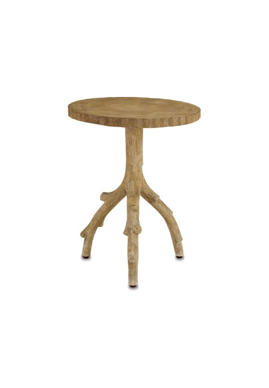 "Currey and Company 2384 22"" Redgrove Table Faux Bois Furniture End"