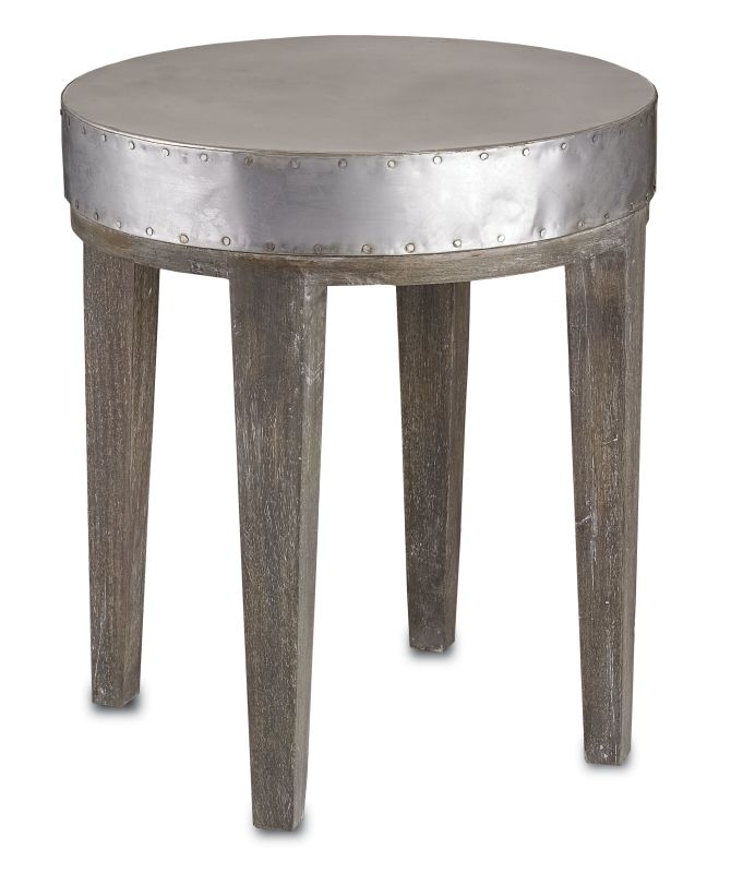 "Currey and Company 3166 21"" Wren Table Distressed Graphite Furniture"
