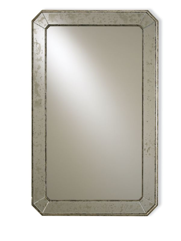 "Currey and Company 4203 41"" Antiqued Wall Mirror Antique Mirror Home"