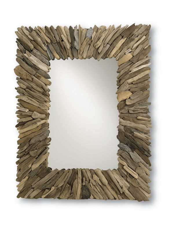 "Currey and Company 4344 51"" Beachhead Mirror Natural Wood/Mirror Home"