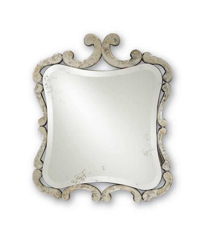 "Currey and Company 4345 33"" Sazerac Mirror Antique Mirror Home Decor"