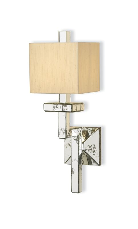 "Currey and Company 5039 Eclipse 26""H 1 Light Wall Sconce with Square"