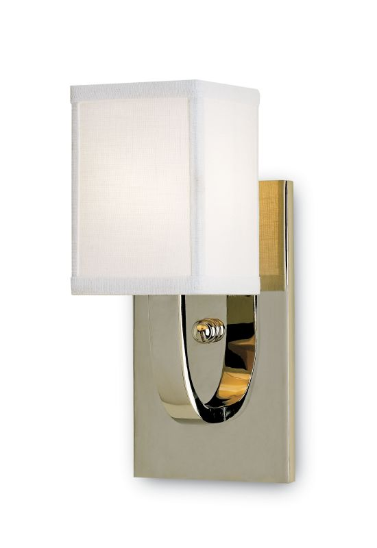 Currey and Company 5084 Sadler 1 Light Wall Sconce Nickel Indoor