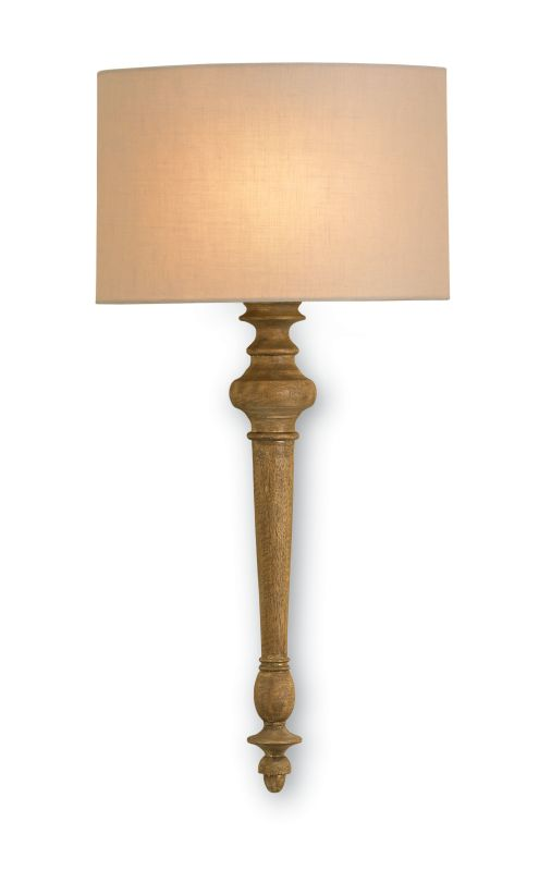 Currey and Company 5091 Jargon 1 Light Wall Sconce with Light Beige