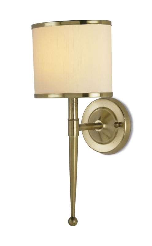 "Currey and Company 5121 Primo 19""H 1 Light Wall Sconce with Cream Oval"