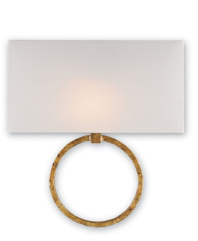 Currey and Company 5902 Porthole 1 Light Wall Sconce Gold Leaf Indoor