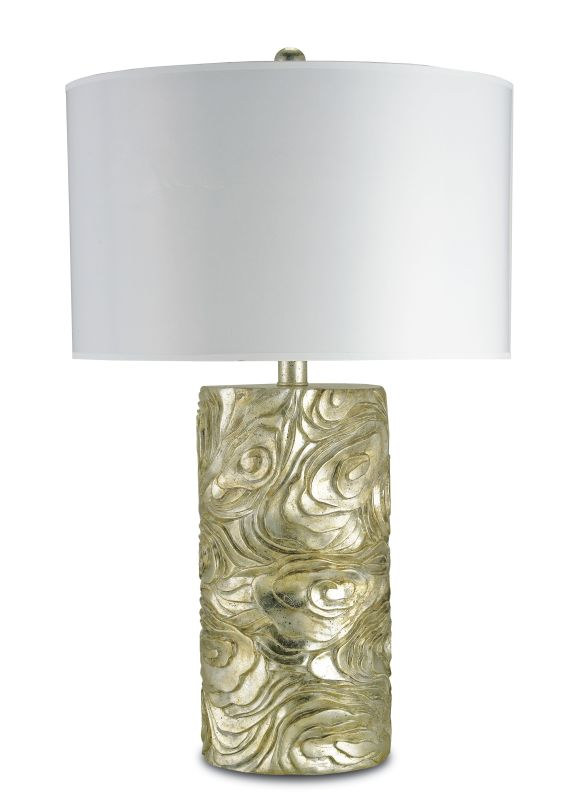 Currey and Company 6174 Grenier 1 Light Table Lamp Silver Granello