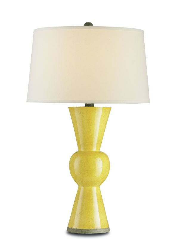 Currey and Company 6382 Upbeat 1 Light Table Lamp Yellow Yellow Lamps