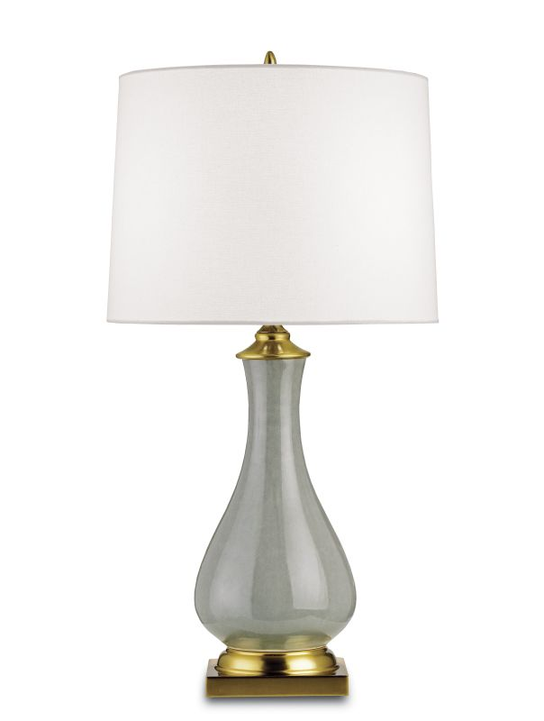"Currey and Company 6419 Lynton 31""H 1 Light Table Lamp with Off White"