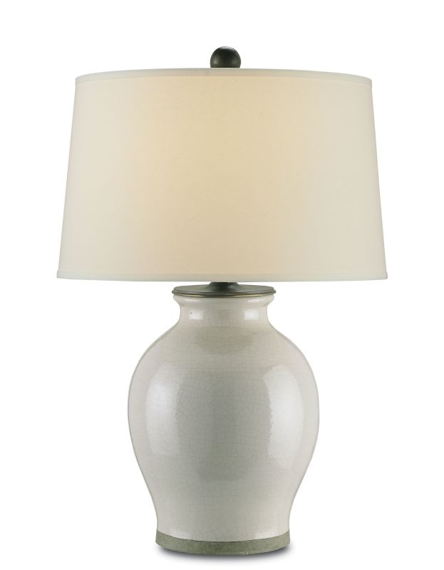 Currey and Company 6432 Fittleworth 1 Light Table Lamp Feather Gray