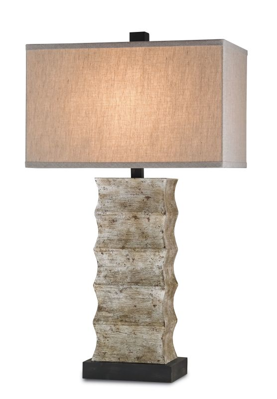 Currey and Company 6462 Wootton 1 Light Table Lamp Distressed Black /