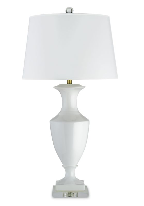 """Currey and Company 6478 Timeless 35""""H 1 Light Table Lamp with White"""