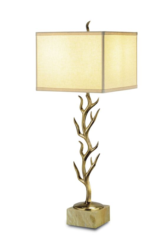 """Currey and Company 6502 Algonquin 30""""H 1 Light Table Lamp with Square"""